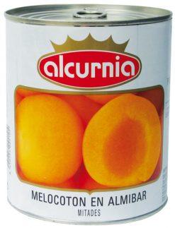 Melocotón Alcurnia almíbar mitades fácil apertura 480 g