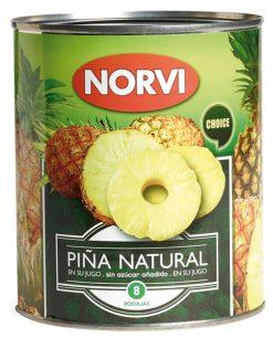 Piña Norvi en su jugo f/a 495 g
