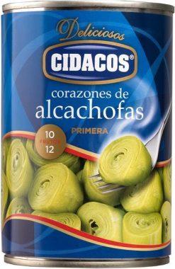 Corazones alcachofa Cidacos primera 10/12 240 g