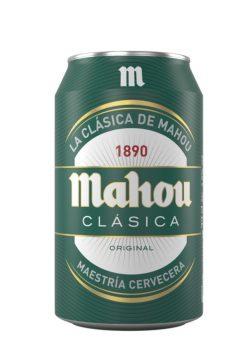 Cerveza Mahou clásica lata verde 33 cl
