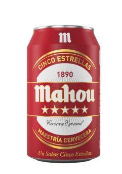 Cerveza Mahou 5 Estrellas lata 33 cl