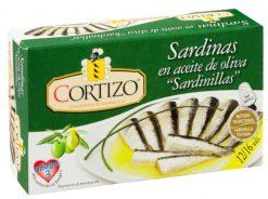 Sardina Cortizo en aceite de oliva 12/16 fácil apertura 85 g
