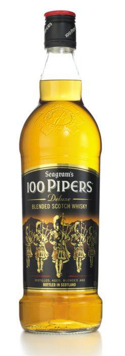 Whisky 100 Pipers escocés 70 cl