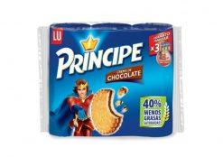 Galletas LU Príncipe rellena de chocolate 40 % menos grasas 300 g pack 3