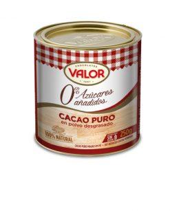 Cacao Valor puro sin azúcar 250 g