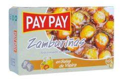 Zamburiñas Pay Pay en salsa de vieira fácil apertura 60 g
