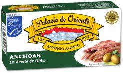 Anchoas Palacio de Oriente en aceite de oliva filetes 29 g