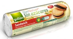 Galletas Gullón Diet Nature sin azúcares chocolate sándwich 250g