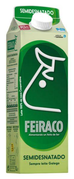 Leche Feiraco semidesnatada brik 1 l