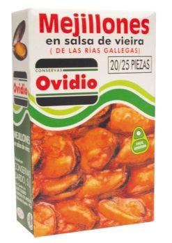 Mejillones Ovidio en salsa de vieira F/A 20/25 70g
