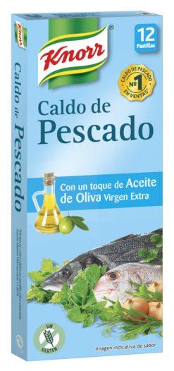 Caldo Knorr pescado con un toque de aceite de oliva virgen extra 12 pastillas 120 g
