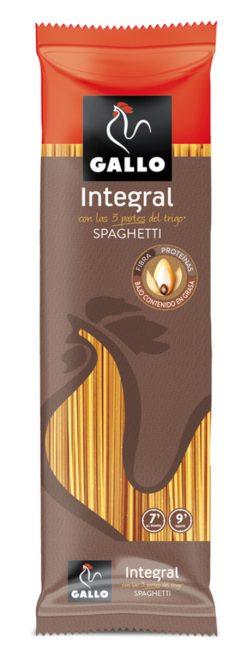 Pasta Gallo spaghetti integral rico en fibra 500 g