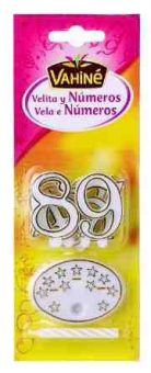 Velas y números plástico Vahiné
