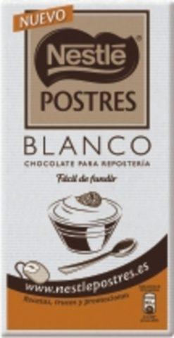 Chocolate Nestlé blanco para postres 180g
