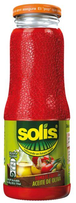 Tomate Solís frito aceite de oliva frasco 360 g