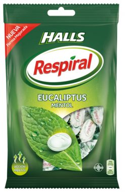 Caramelo Halls Respiral mentol 150 g