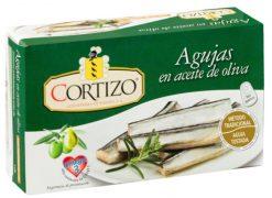 Agujas Cortizo en aceite de oliva fácil apertura 83 g