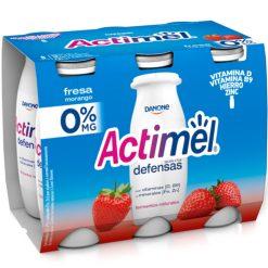 Actimel Danone 0% fresa 6x100 g