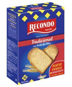 Pan tostado Recondo 30 rebanadas tradicional 270 g