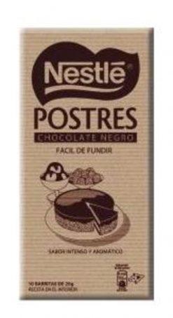 Chocolate Nestlé negro postres 250 g