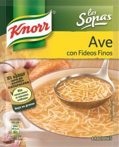 Sopa Knorr ave con fideos finos sob. 61g