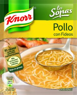 Sopa Knorr pollo con fideos sobre 63g