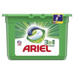 Detergente Ariel Pods 3 en 1 18 lavados