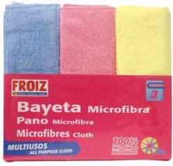 Bayeta Froiz microfibra multiusos 3 u (cocina-salón-baño)