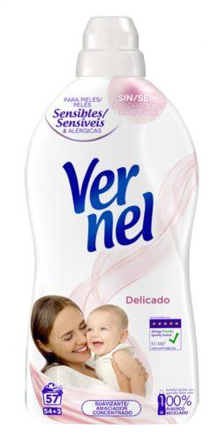 Suavizante Vernel concentrado delicado 54 lavados