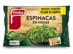 Espinacas Findus en hojas 400 g