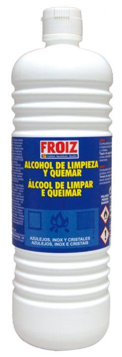 Alcohol Froiz limpieza y quemar perfumado 1 l