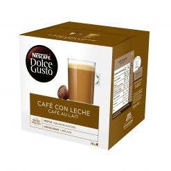 Café cápsulas Nescafé Dolce Gusto café con leche 16 u