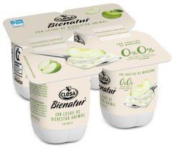 Yogur Clesa Bienatur desnatado con manzana 4x115 g
