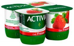 Activia con fresas 4x120 g