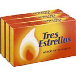 Cerillas Tres Estrellas Extra Largas P3