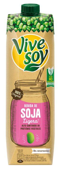 Bebida de soja Vivesoy ligera 1 l