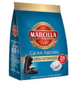 Café cápsulas Marcilla Senseo descafeinado 28 u