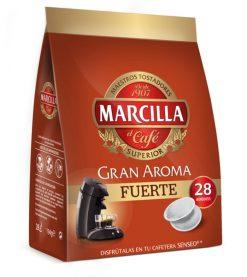 Café cápsulas Marcilla Senseo fuerte 28 u